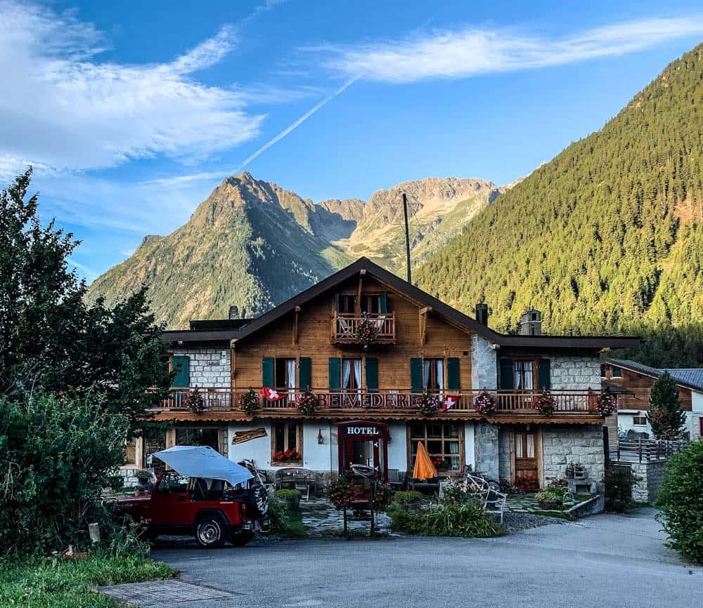 swiss refuges on the tour du mont blanc