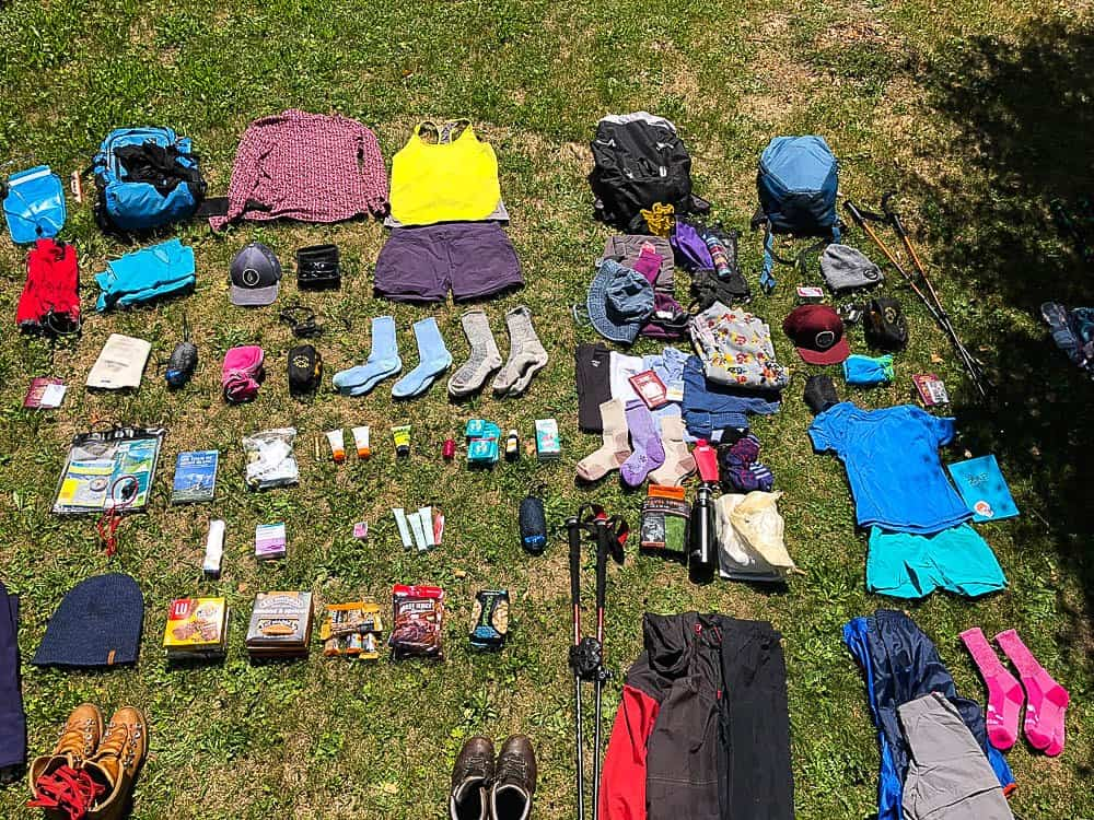 what to pack tour du Mont Blanc